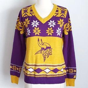 NFL Minnesota Vikings Snowflake Acrylic Sweater